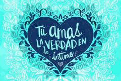Tu Amas La  Verdad (azul/turquesa)