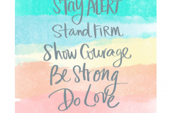 Stay Alert, Stay Firm