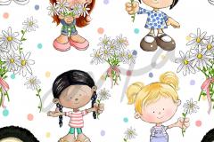 Nenas Flores Blanco