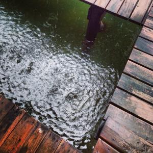 lluvia en Izabal. Foto por Aixa