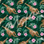 Orangután (patrón flores)