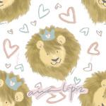 Aslan (patron corazones)