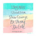 1 Cor 16:13-14